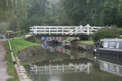 A swing bridge on the canal system